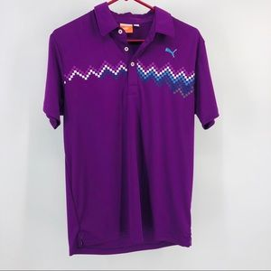 Puma S Golf Polo Men's Royal Purple Dry Cell